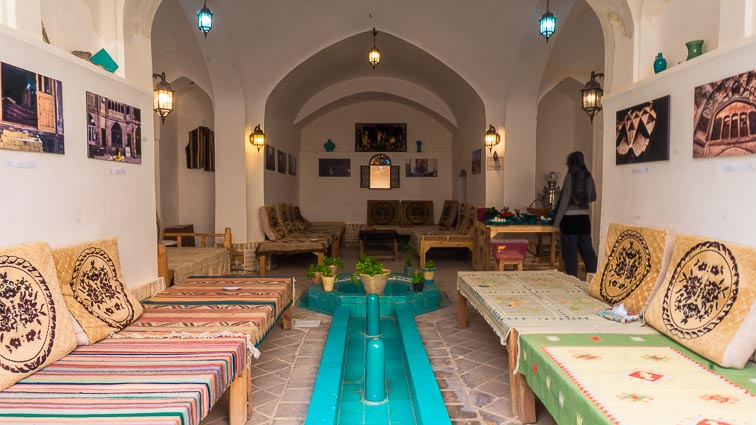 Iran Backpacking. Noghli Guesthouse, Kashan, Iran