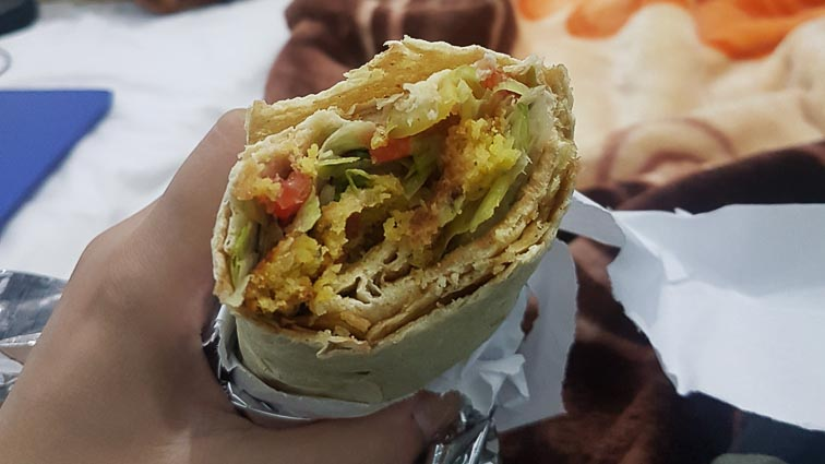 Backkpacking in Iran. Falafel
