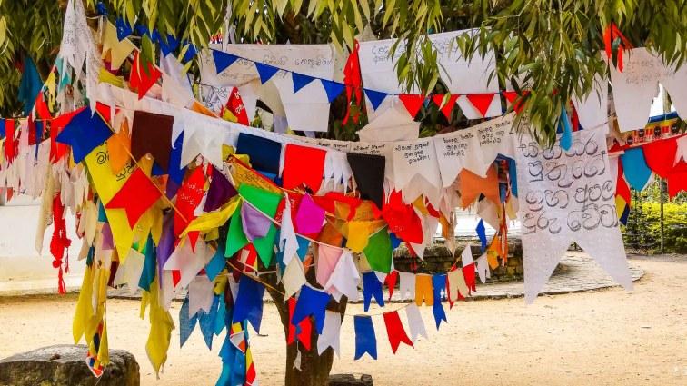 Highlights Sri Lanka. Prayer flags
