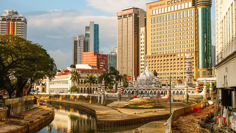 Masjid Jamek, close to Old LIttle India and China Town, Kuala Lumpur.