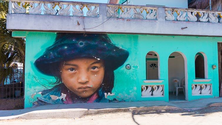 Street art Isla Holbox, Mexico