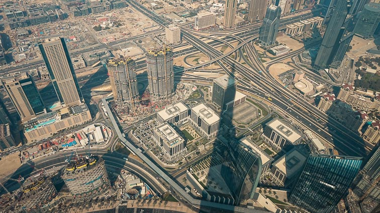 View from Burj Khalifa. How expensive is Dubai?