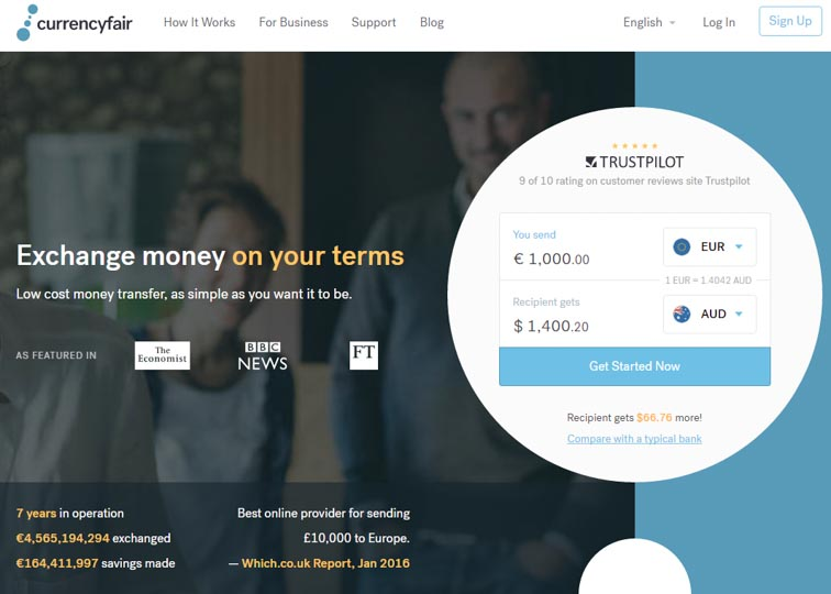 Currencyfair, the best way to send money abroad. And get 30 euro free!