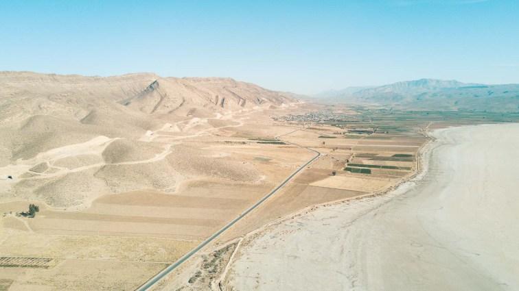 Route Iran. Maharlu Lake