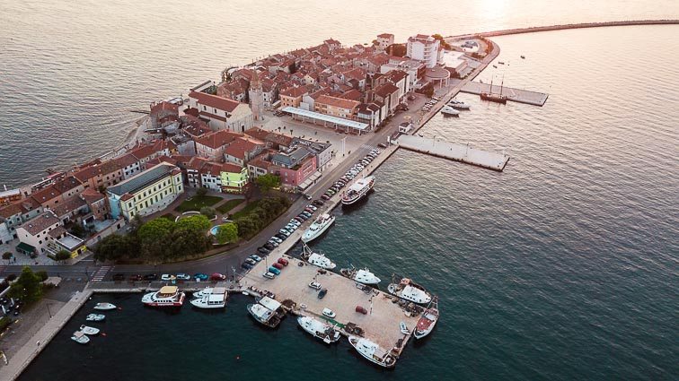 The harbor of Umag, Croatia