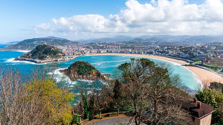 Panoramic view of San Sebastián., an awesome place for a Spanish city beak