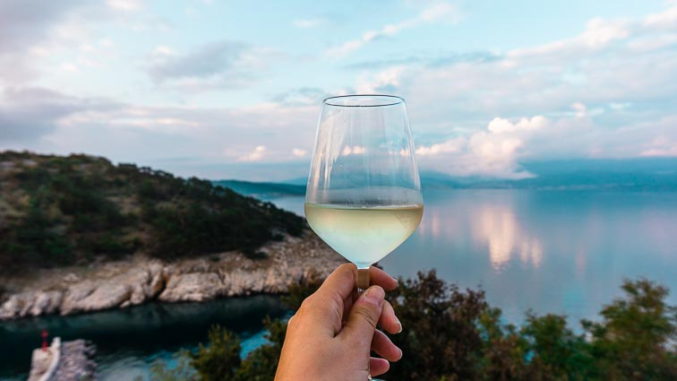 Great wine in Vrbnik