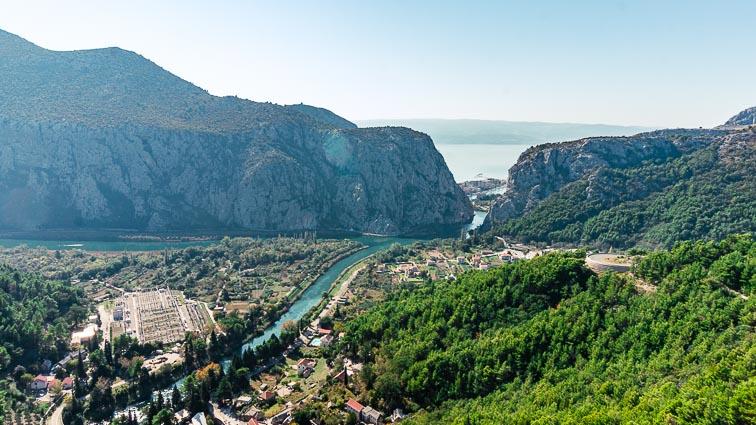 Cetina Gorge view