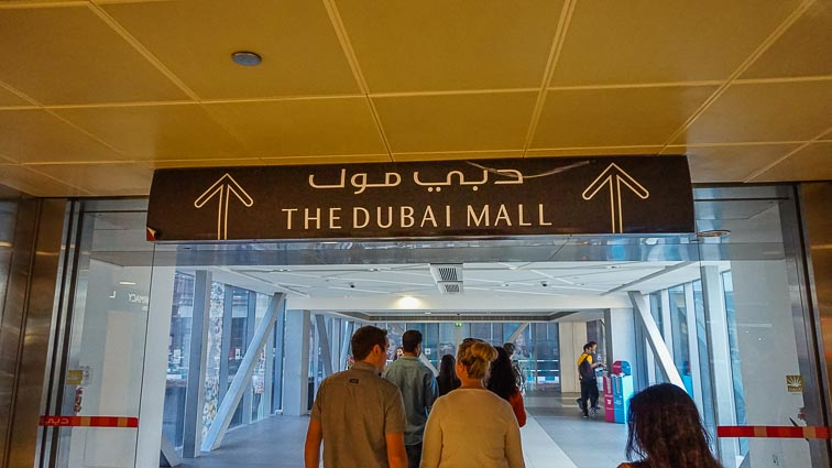 One of the entrances of the Dubai Mall
