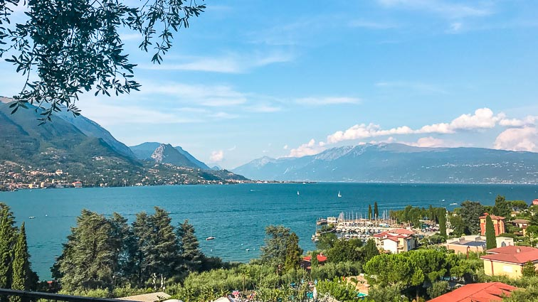 View on Lake Garda from Salò