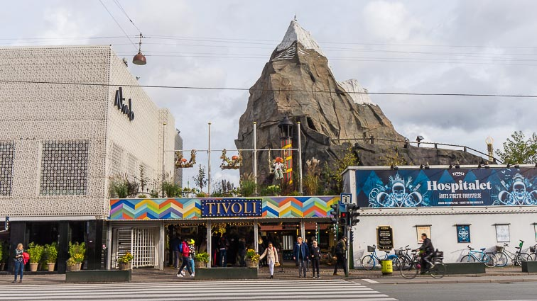Tivoli Amusement Park, right in the heart of Copenhagen