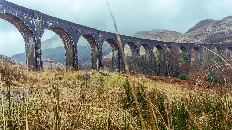 Glenfinnanviaduct, Scotland. Railway bridge featured in Harry Potter