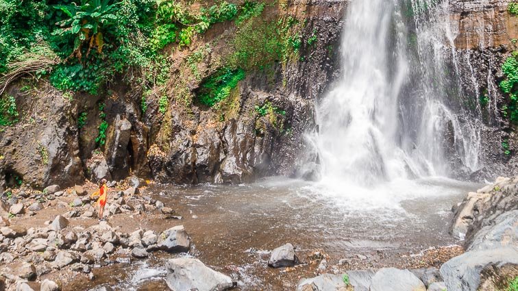 Waterfalls in the Munduk region