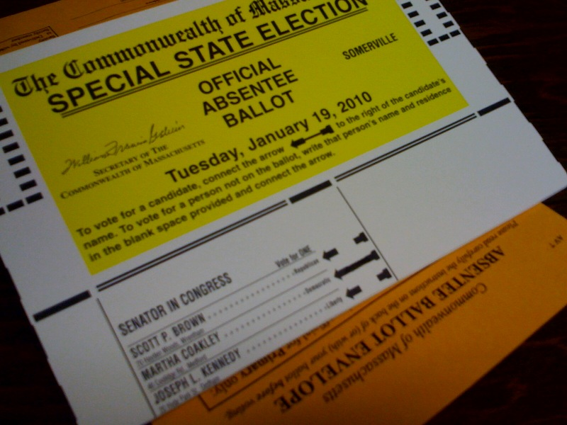 Absentee ballot for an American election