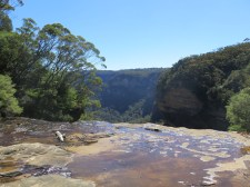 The top of Wentworth Falls