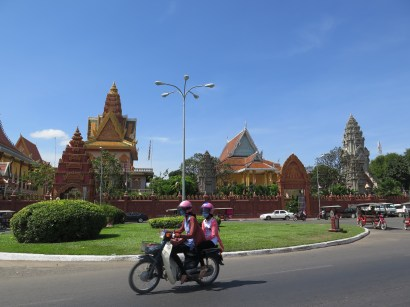 Driving around Phnom Penh