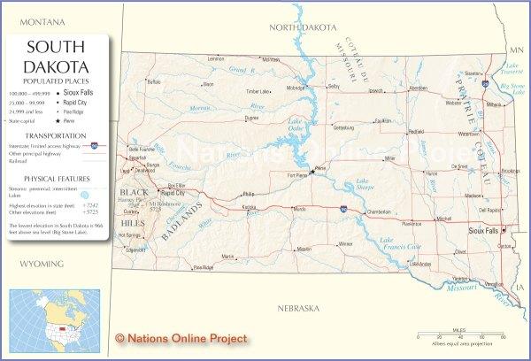 South Dakota Map Travel Across the USA