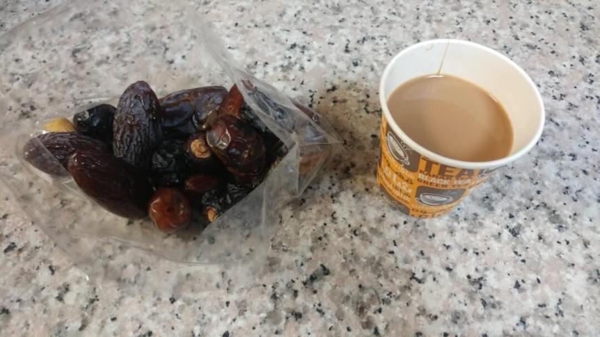 dates, Karak tea, food