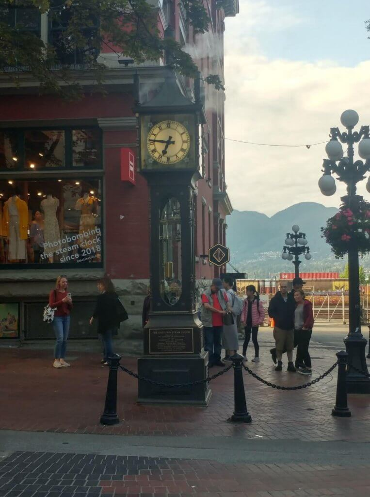 steam clock, gastown, clock