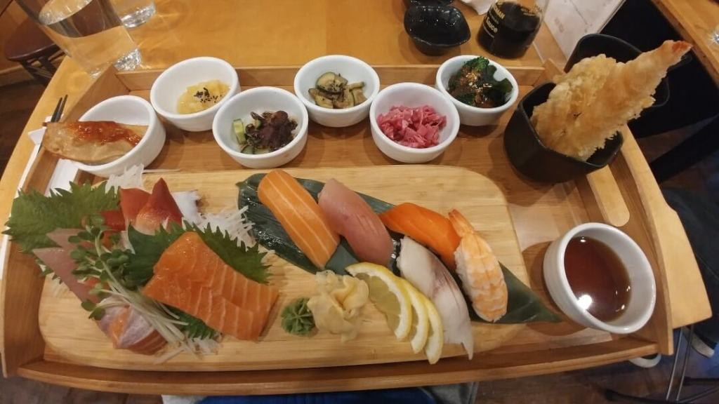 sushi, restaurant, food