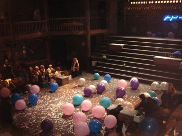 Inside The Swan Theatre after 2012 production of King John.