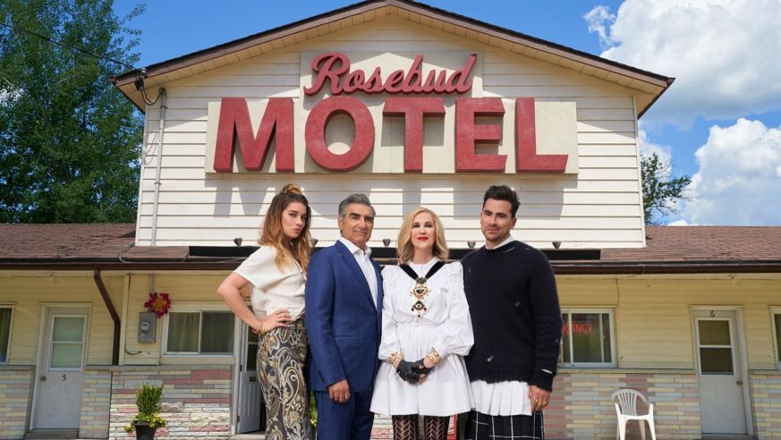 Schitts Creek Rosebud Motel With Cast