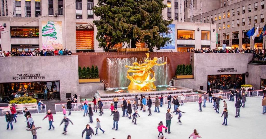 Outdoor holiday celebrations around the United States