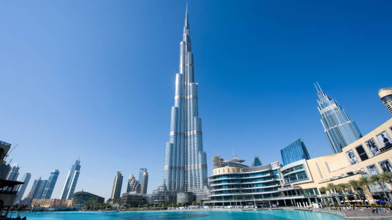 The Burj Khalifa is the world's tallest building.