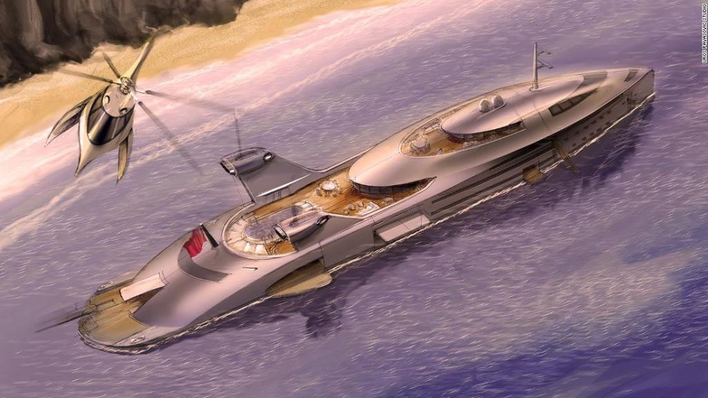 'Mad Max' superyacht concept powered by airplane jet engines