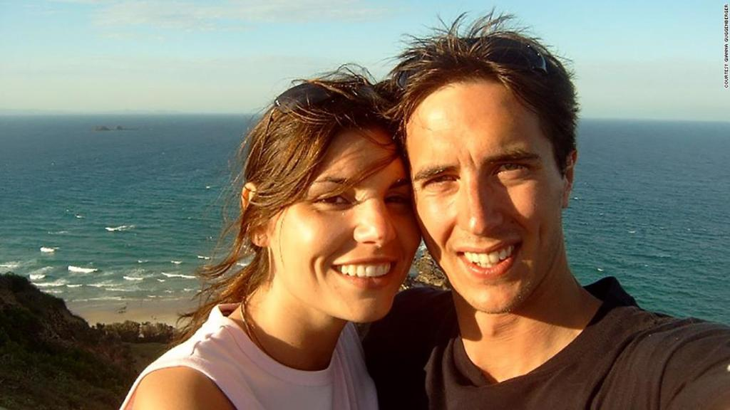 The couple who met on the beach at Byron Bay