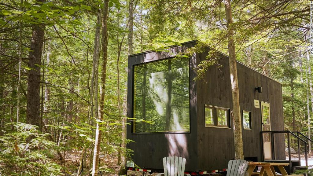 Tiny cabins become hot property in pandemic
