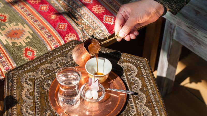 Thick, rich and strong as jet fuel, Bosnian coffee is is such a part of the culture that it's the drink of choice.