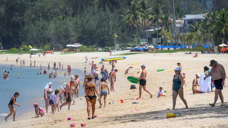 On March 20, 2020, international tourists continued to visit the beaches of Phuket, just days before the island locked down.