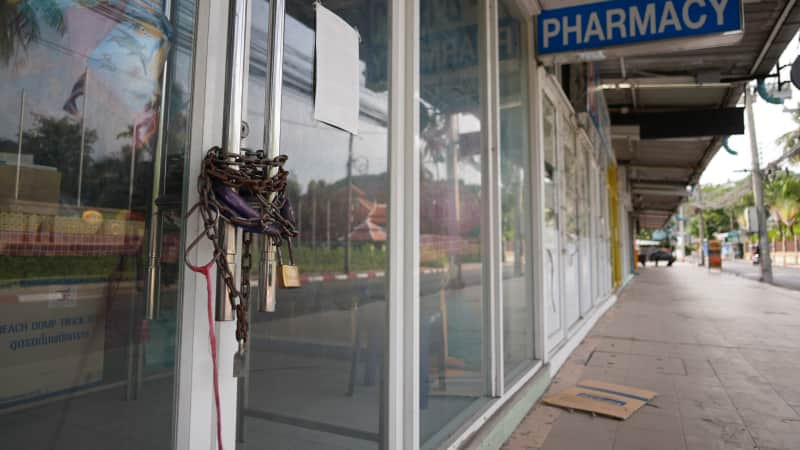 The streets of Phuket's Patong, Karon and Kata neighborhoods are filled with closed businesses.