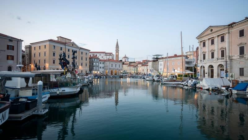 Pretty Piran could double as a Venetian waterfront.