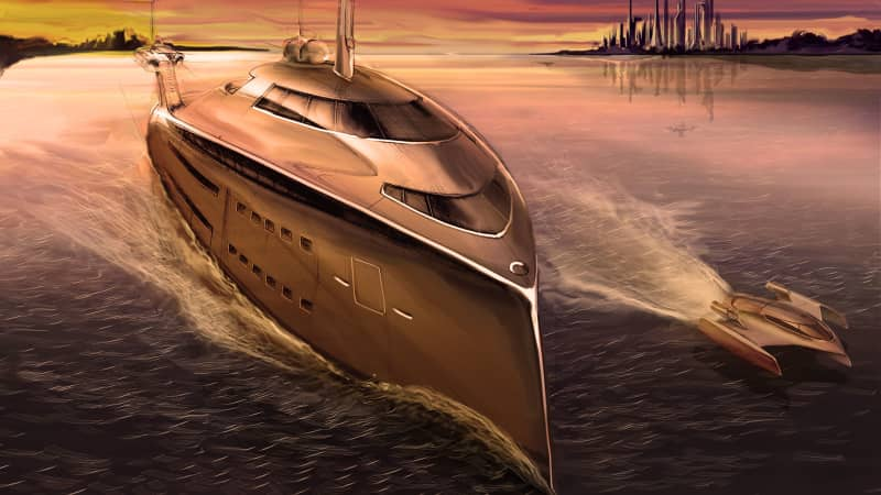 Superyacht concept - The Cobra - Uros Pavasovic Studio
