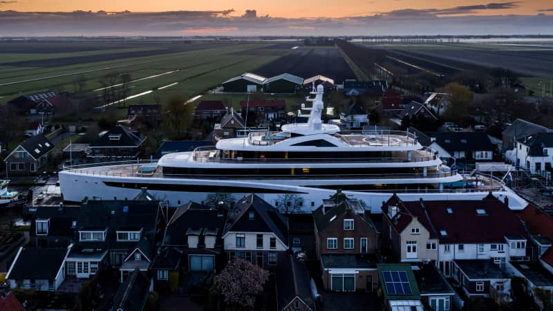A superyacht is usually guided to sea by a team of five experts and a crew on board, according to Feadship.