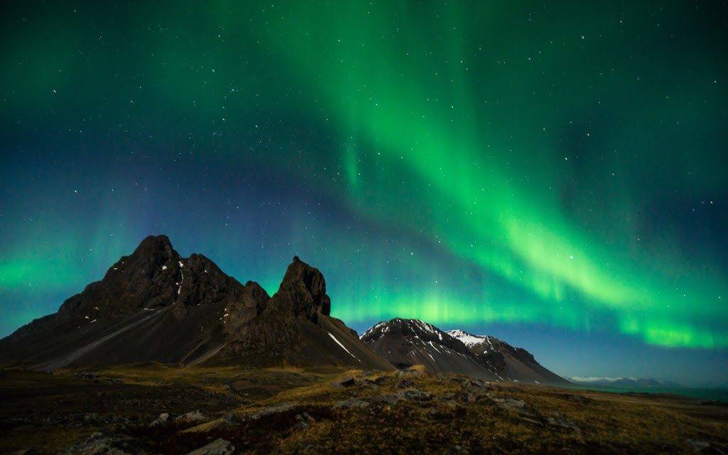 Northern lights or Aurora in Iceland