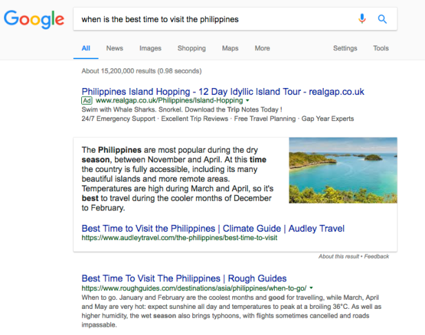 Snippets dominate more search clicks: Latest SEO trend to your travel website