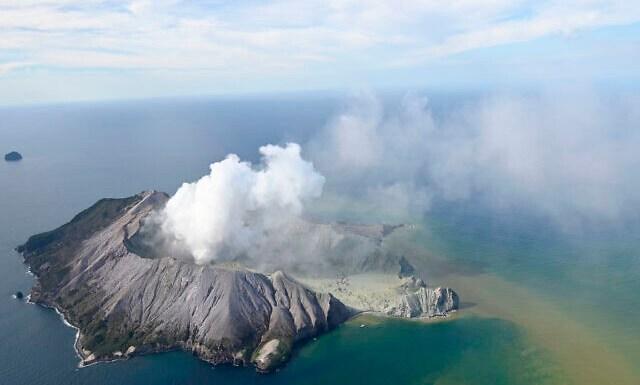White Island New Zealand Volcanic Eruption