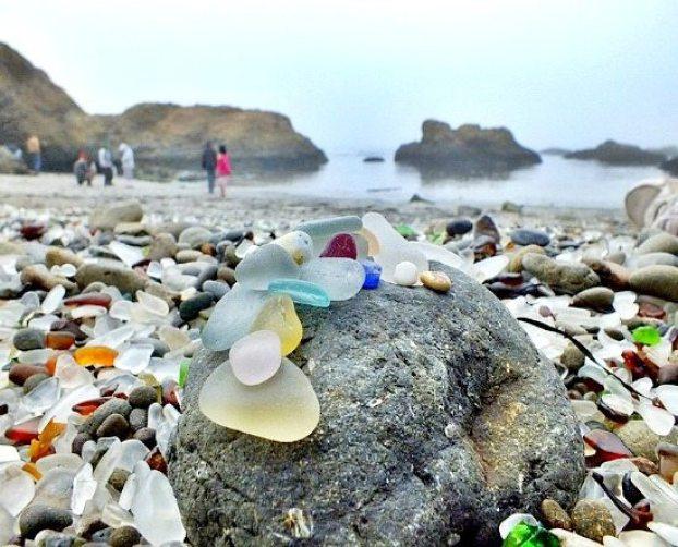 Sea Glass Beach California rare sea glass