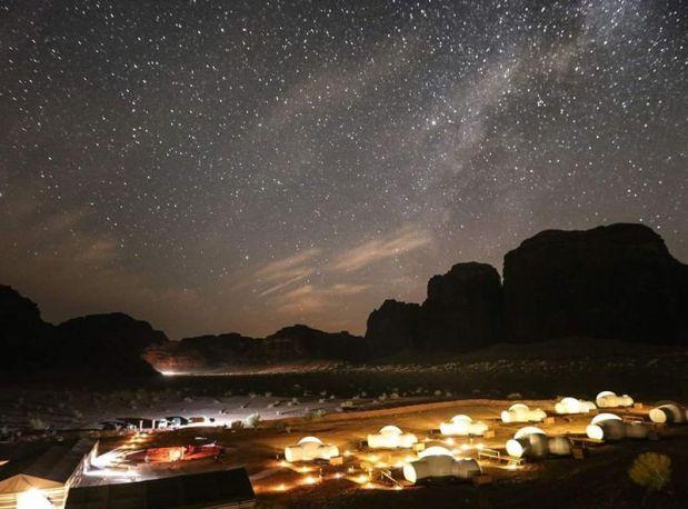 Spending a night in Wadi Rum Jordan