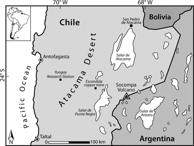 Atacama Desert Borders
