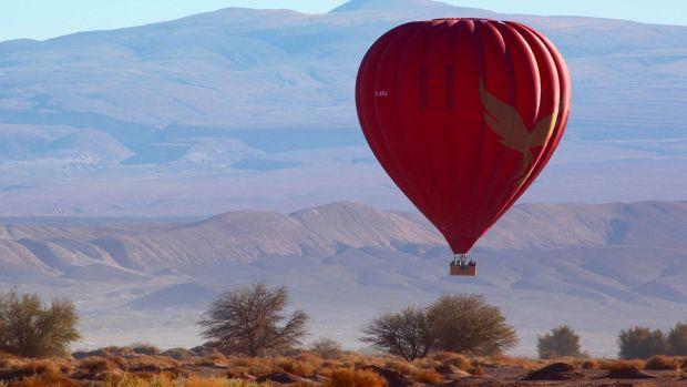 Fly in a hot air balloon over the Atacama Desert sky