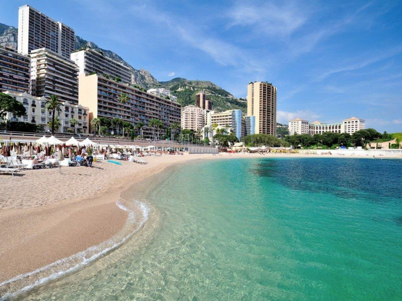 Sunbathe on Larvotto Beach Monaco