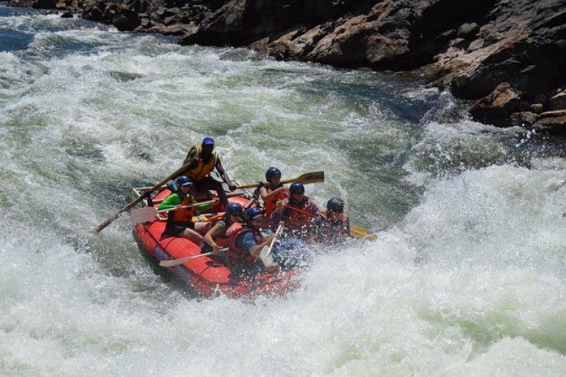 White water rafting in Victoria Falls Zambezi River