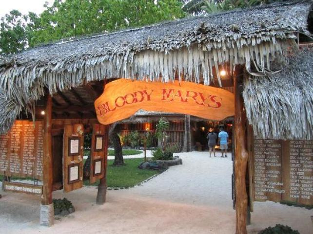 Have dinner at Bloody Mary's Bora Bora