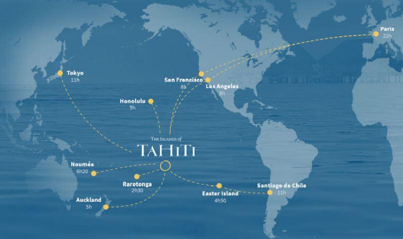 Where is Tahiti Island located?