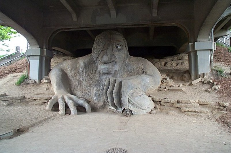 Fremont Troll in Seattle Washington