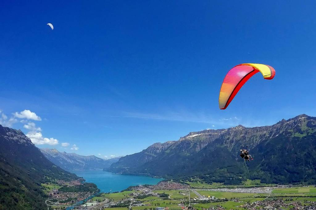 Interlaken in Switzerland Paragliding